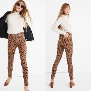 """New Madewell 10"""" High Rise Animal Print Jeans"""